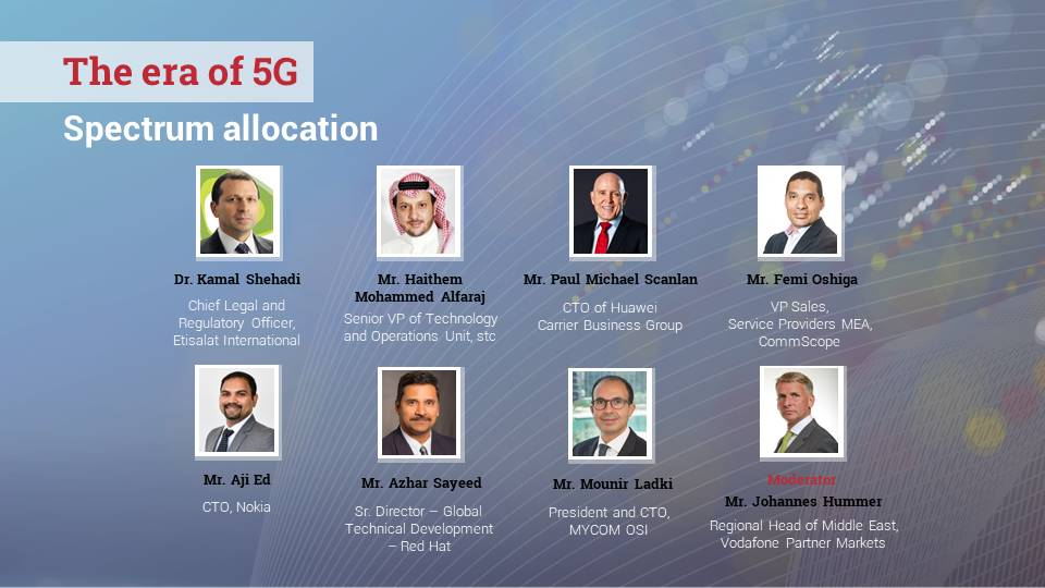 Panel: The era of 5G: Spectrum allocation
